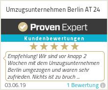 Erfahrungen & Bewertungen zu Umzugsunternehmen Berlin AT 24