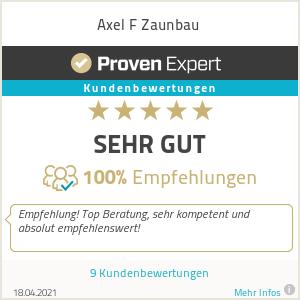 Erfahrungen & Bewertungen zu Axel F Zaunbau