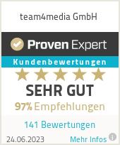 Erfahrungen & Bewertungen zu team4media GmbH