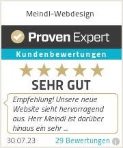 Erfahrungen & Bewertungen zu Meindl-Webdesign