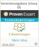 Erfahrungen & Bewertungen zu Versicherungsbüro Schury UG