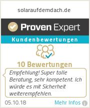 Erfahrungen & Bewertungen zu solaraufdemdach.de