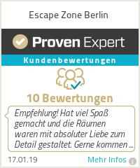 Erfahrungen & Bewertungen zu Escape Zone Berlin
