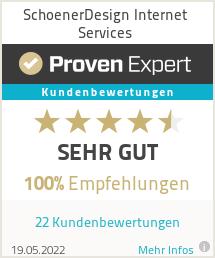 Erfahrungen & Bewertungen zu SchoenerDesign Internet Services