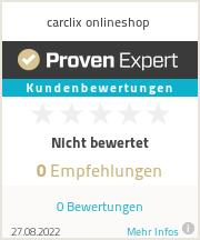 Erfahrungen & Bewertungen zu carclix onlineshop