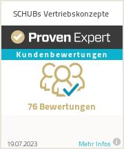 Erfahrungen & Bewertungen zu SCHUBs Vertriebskonzepte