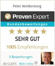 Erfahrungen & Bewertungen zu Peter Weißenberg