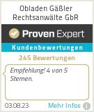Erfahrungen & Bewertungen zu Obladen Gäßler Rechtsanwälte GbR