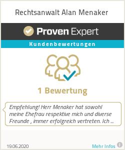 Erfahrungen & Bewertungen zu Rechtsanwalt Alan Menaker