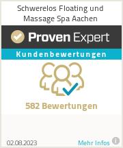 Erfahrungen & Bewertungen zu Schwerelos Floating und Massage Spa Aachen