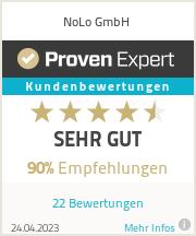 Erfahrungen & Bewertungen zu NoLo GmbH