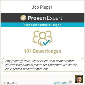 Erfahrungen & Bewertungen zu Udo Pieper