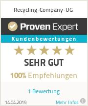Erfahrungen & Bewertungen zu Recycling-Company-UG