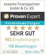 Erfahrungen & Bewertungen zu essenta Finanzpartner GmbH & Co. KG