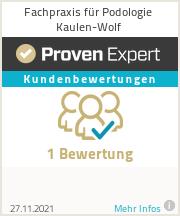 Erfahrungen & Bewertungen zu Fachpraxis für Podologie Kaulen-Wolf