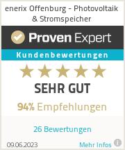 Erfahrungen & Bewertungen zu enerix Offenburg - Photovoltaik & Stromspeicher