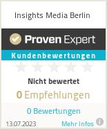 Erfahrungen & Bewertungen zu Insights Media Berlin