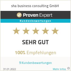 Erfahrungen & Bewertungen zu sha business consulting GmbH