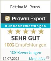 Erfahrungen & Bewertungen zu Bettina M. Reuss