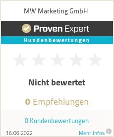 Erfahrungen & Bewertungen zu MW Marketing GmbH