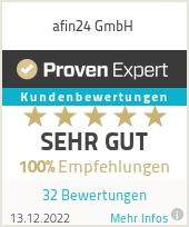 Erfahrungen & Bewertungen zu afin24 GmbH