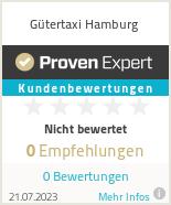 Erfahrungen & Bewertungen zu Gütertaxi Hamburg