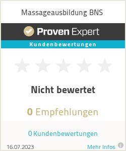 Erfahrungen & Bewertungen zu Massageausbildung BNS