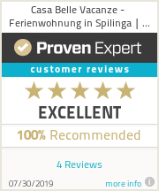 Ratings & reviews for Casa Belle Vacanze - Ferienwohnung in Spilinga | Tropea | Kalabrien