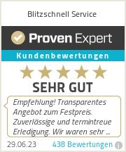 Erfahrungen & Bewertungen zu Blitzschnell Service