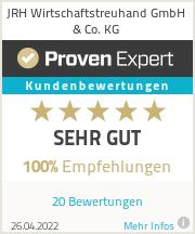 Erfahrungen & Bewertungen zu JRH Wirtschaftstreuhand GmbH & Co. KG