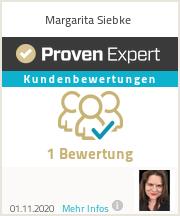 Erfahrungen & Bewertungen zu Margarita Siebke