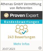 Erfahrungen & Bewertungen zu Athenas GmbH Vermittlung von Referenten