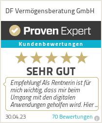 Erfahrungen & Bewertungen zu DF Vermögensberatung GmbH