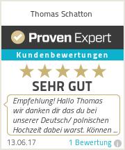 Erfahrungen & Bewertungen zu Thomas Schatton