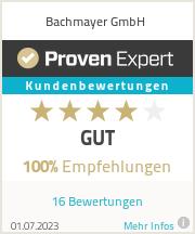 Erfahrungen & Bewertungen zu Bachmayer GmbH