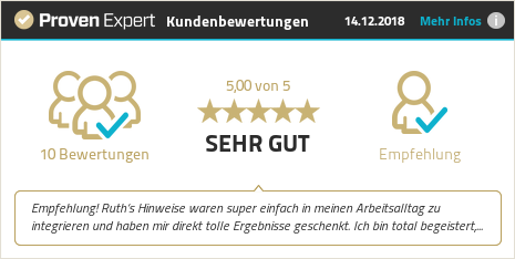 Kundenbewertungen & Erfahrungen zu Ruth Schlub. Mehr Infos anzeigen.