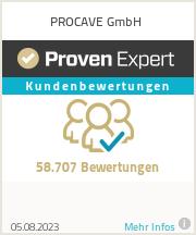Erfahrungen & Bewertungen zu PROCAVE GmbH
