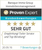 Erfahrungen & Bewertungen zu Baroque Immo Group Immobilienmanagement