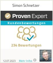 Erfahrungen & Bewertungen zu Simon Schnetzer