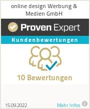 Erfahrungen & Bewertungen zu online design Werbung & Medien GmbH