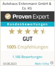 Erfahrungen & Bewertungen zu Autohaus Entenmann GmbH & Co. KG