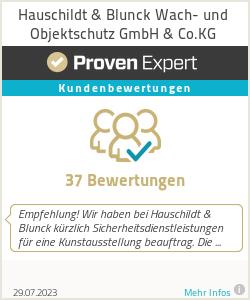 Erfahrungen & Bewertungen zu Hauschildt & Blunck Wach- und Objektschutz GmbH & Co.KG