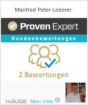 Erfahrungen & Bewertungen zu Manfred Peter Lederer