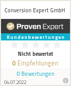 Erfahrungen & Bewertungen zu Conversion Expert GmbH
