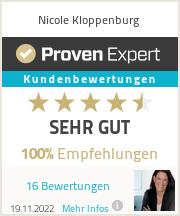 Erfahrungen & Bewertungen zu Nicole Kloppenburg