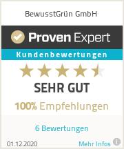 Erfahrungen & Bewertungen zu BewusstGrün GmbH
