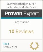 ProvenExpert-Profil von Sachverständigenbüro f. Dachtechnik Martin Seibel anzeigen