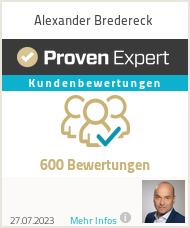Erfahrungen & Bewertungen zu Alexander Bredereck