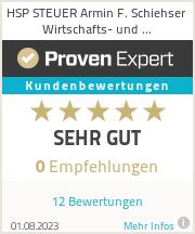 Erfahrungen & Bewertungen zu HSP STEUER Armin F. Schiehser Wirtschafts- und Steuerberatungsgesellschaft mbH