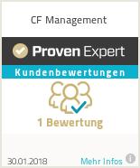 Erfahrungen & Bewertungen zu CF Management